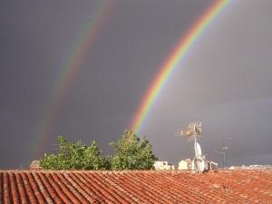 Doble arco iris en junio de 2009